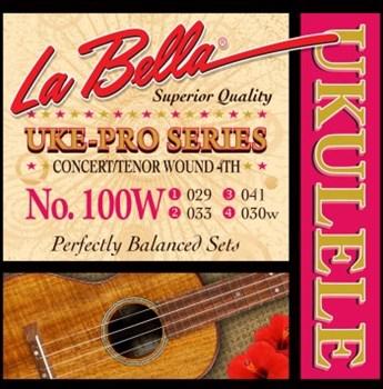 100W Uke-Pro  струны для концертного и тенор укулеле, оплетка 4-ой струны, La Bella - фото 11637