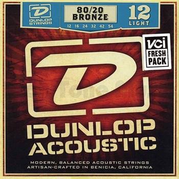 Dunlop DAB1254 струны для акустической гитары, бронза 80/20, Light, 12-54 - фото 11639