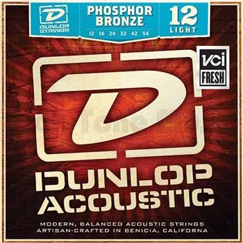 Dunlop DAP1254 струны для акустической гитары, фосф.бронза, Light, 12-54 - фото 11640