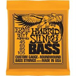 Ernie Ball 2833 Hybrid Slinky Bass струны для бас-гитары, 45-105 - фото 12482