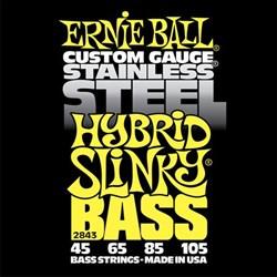 Ernie Ball 2843 Stainless Steel Hybrid Slinky  струн для бас-гитары, 45-105 - фото 12483