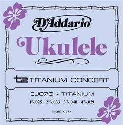 D'Addario EJ87C Titanium струн для концертного укулеле - фото 12882