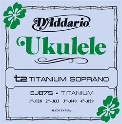 D'Addario EJ87S Titanium струны для укулеле сопрано - фото 12883