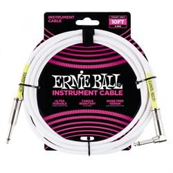 ERNIE BALL 6049 - кабель 3 метра, белый - фото 13556