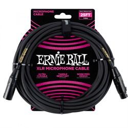 ERNIE BALL 6073 - кабель микрофонный, 7,62 м, чёрный. - фото 13559