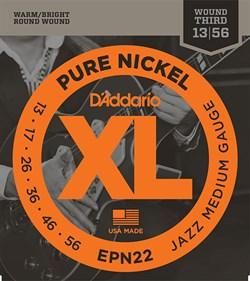D'Addario EPN22 Pure Nickel Jazz Medium - фото 13563