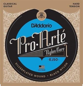 EJ50 PRO ARTE Струны для классической гитары нейлоновые Hard D`Addario