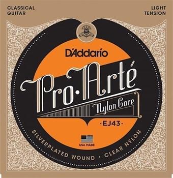 EJ43 PRO ARTE Струны для классической гитары нейлоновые Light D`Addario