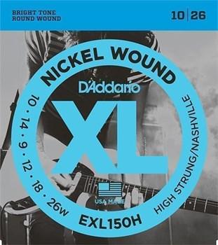 EXL150H Nickel Wound Комплект струн для электрогитары 10-26, D'Addario