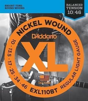 EXL110BT Nickel Wound Комплект струн для электрогитары, Regular Light, 10-46, D'Addario