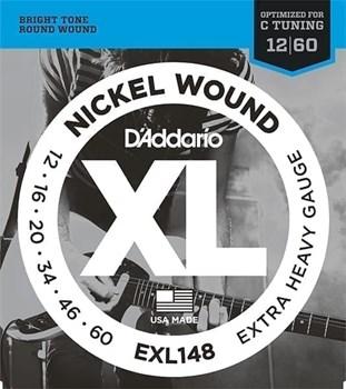 EXL148 XL NICKEL WOUND Струны для электрогитары Extra Heavy 12-60 D`Addario