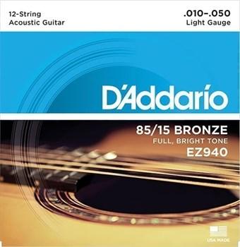 D`ADDARIO EZ940 .010 - .050  для 12-струнной гитары