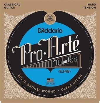 EJ48 PRO ARTE Струны для классической гитары нейлоновые Hard D`Addario