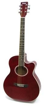 Акустическая гитара красная Homage LF-401C-R
