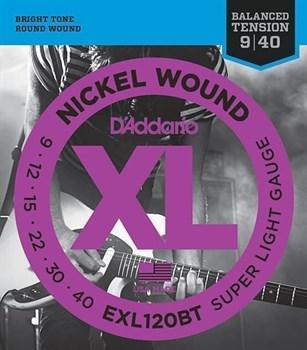 EXL120BT NICKEL WOUND, 09-40 D`Addario