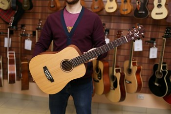 EARTH-MINI-OP Cort тревел гитара с чехлом - фото 7267