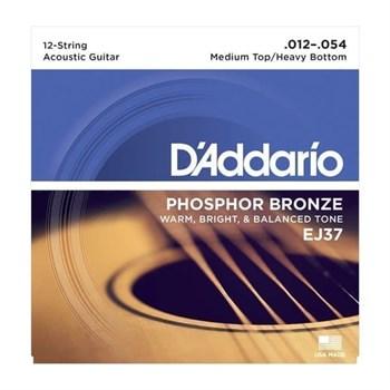 D'ADDARIO EJ37 для 12-стр. гитары фосфор/бронза, Light, 12-54