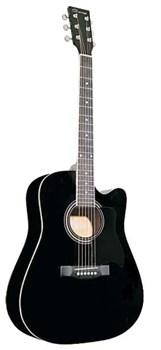 Caraya F601-BK с вырезом, черная