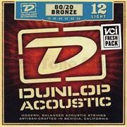 Dunlop DAB1254 струны для акустической гитары, бронза 80/20, Light, 12-54