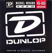 Dunlop DBN45105 струны для бас-гитары, никелированные 45-105