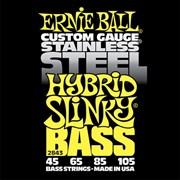 Ernie Ball 2843 Stainless Steel Hybrid Slinky  струн для бас-гитары, 45-105