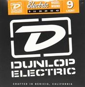 Dunlop DEN0942, никелированные, Light, 9-42