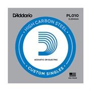 """PL010 PLAIN STEEL Отдельная стальная струна 0.010"""" D`Addario"""