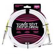 ERNIE BALL 6049 - кабель 3 метра, белый