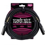 ERNIE BALL 6073 - кабель микрофонный, 7,62 м, чёрный.