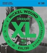 EXL130 XL NICKEL WOUND Струны для электрогитары Extra Super Light 8-38 D`Addario