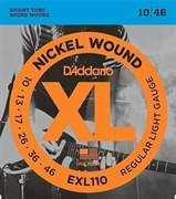 EXL110 XL NICKEL WOUND Струны для электрогитары Regular Light 10-46 D`Addario