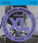 EXL115 XL NICKEL WOUND Струны для электрогитары 11-49 D`Addario