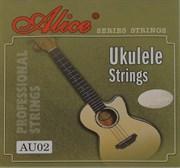 AU02 Комплект струн для укулеле, черный нейлон
