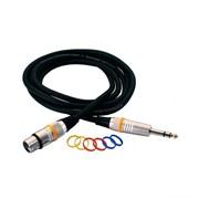 Микрофонный шнур XLR- стереоджек Rockcable RCL30385 D6 M