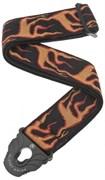 PLANET WAVES 50PLA01 гитарный ремень, 50мм. крепление Planet Lock, цвет языки пламени